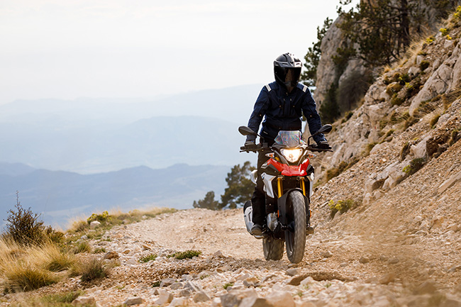 BMW G 310 GS off-road action fire trail learner approved motorcycle