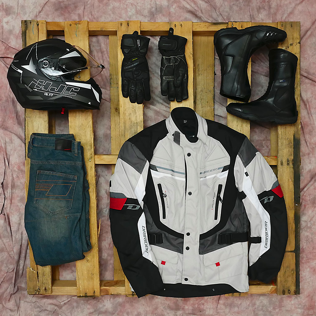 budget motorcycle safety gear DriRider flat layHJC Mcleod Accessories