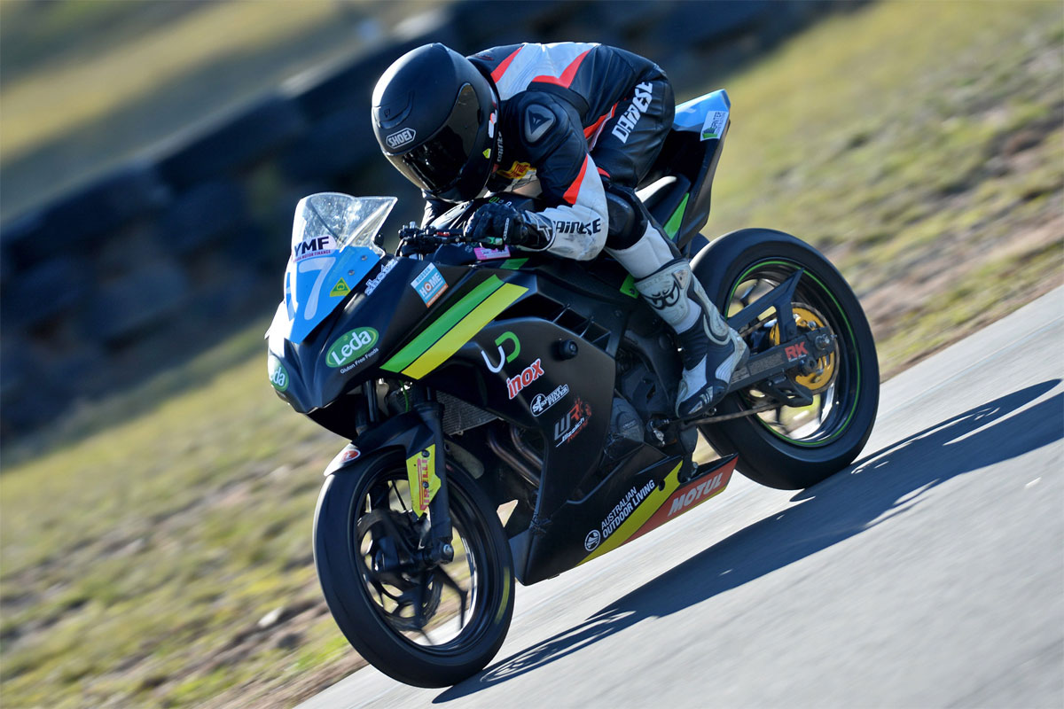 Tom Toparis Ninja 300 Cup action