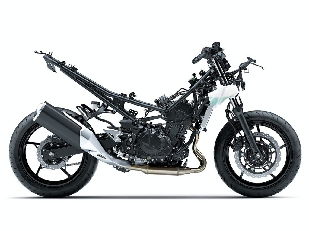 kawasaki ninja 400 side on stripped down