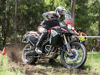 2017 BMW Motorrad GS Trophy qualifier action wheelspin lima east victoria