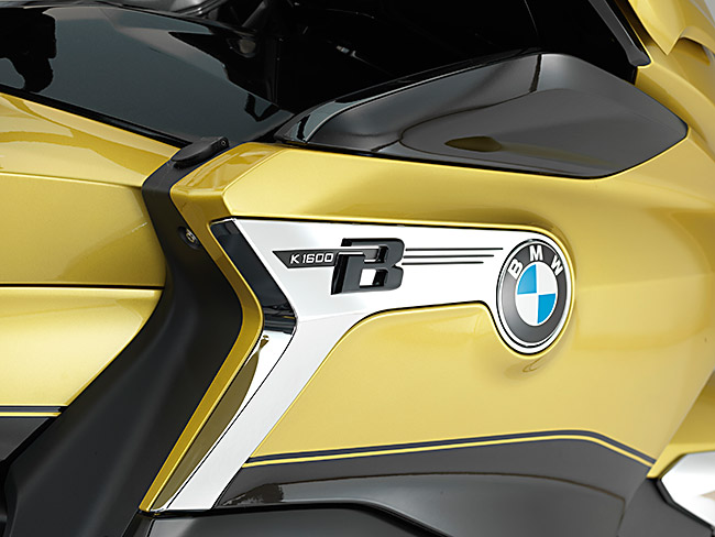 2018 BMW K 1600 Grand America unveiled static studio BMW logo