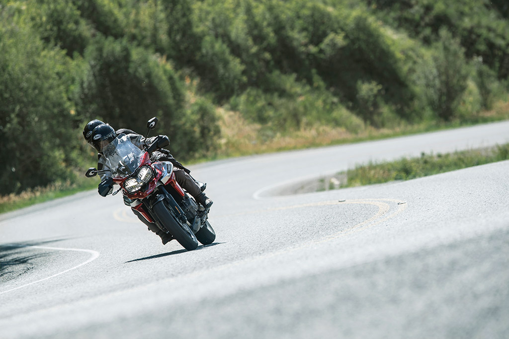2018 Triumph Tiger unveiled head on action twisties mountain road