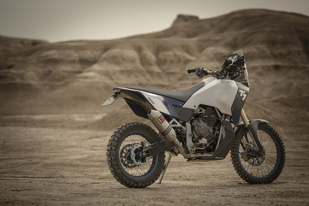 2017 Yamaha T7 prototype rear three quarter static desert