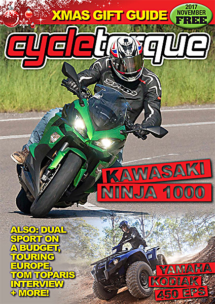 Cycle Torque Magazine November 2017 cover kawasaki ninja 1000 yamaha kodiak 450