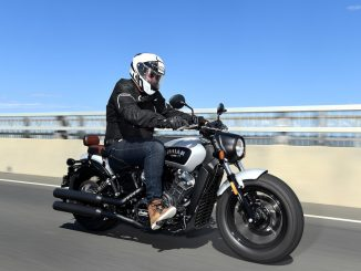 indian scout bobber launch tracking front three quarter right