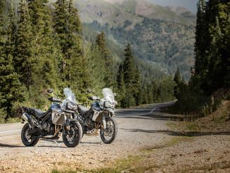 2018 Triumph Tiger 800 unveiled XCA XRT static front three quarter forest