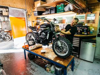 Kawasaki Z900RS unveiled deus sydney workshop static